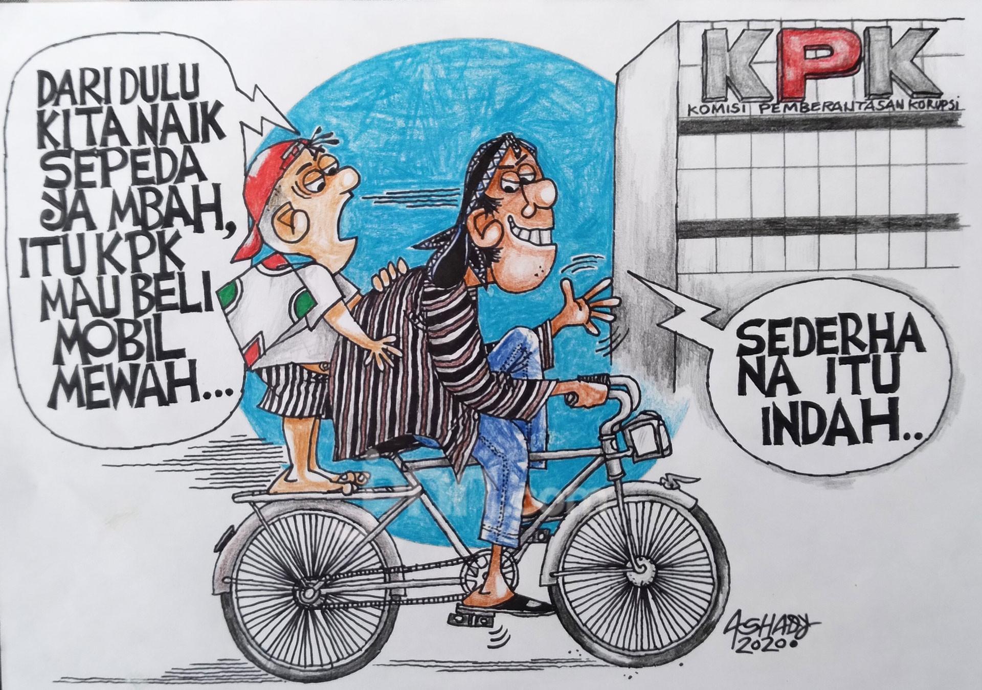 Mobil Mewah Pemberantas Rasuah. Karikatur oleh Ashady - JPNN.com