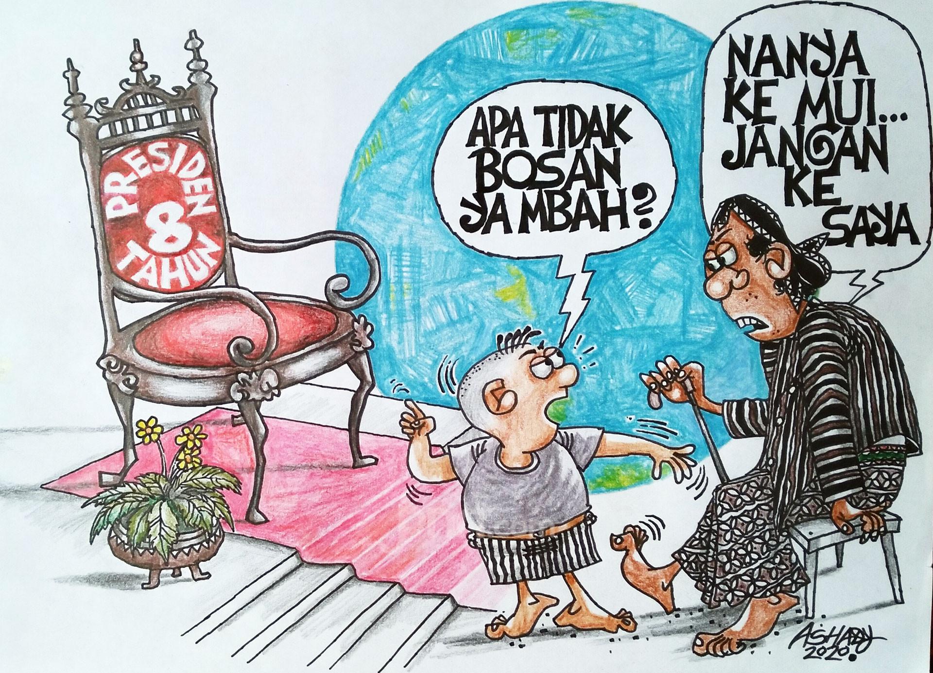 Jabatan Presiden 8 Tahun. Karikatur oleh Ashady - JPNN.com