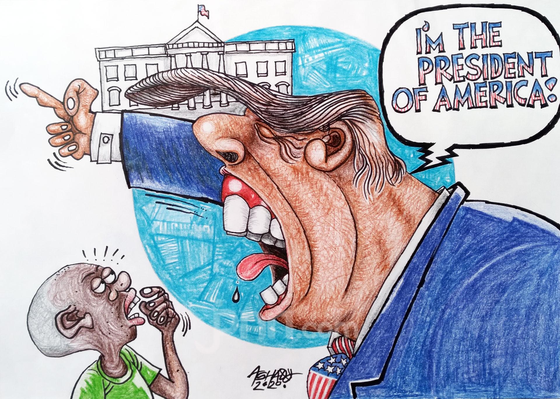 Ogah Kalah. Karikatur oleh Ashady - JPNN.com