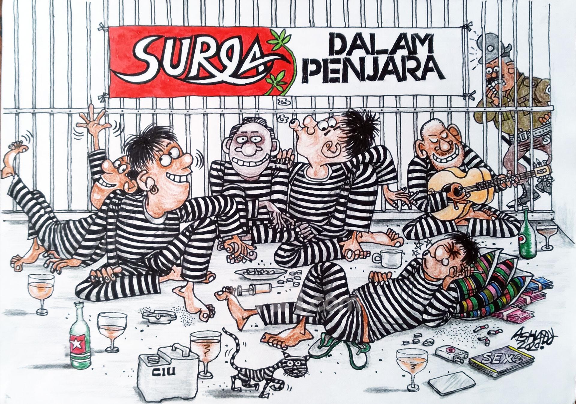 Surga Dalam Penjara. Karikatur oleh Ashady - JPNN.com