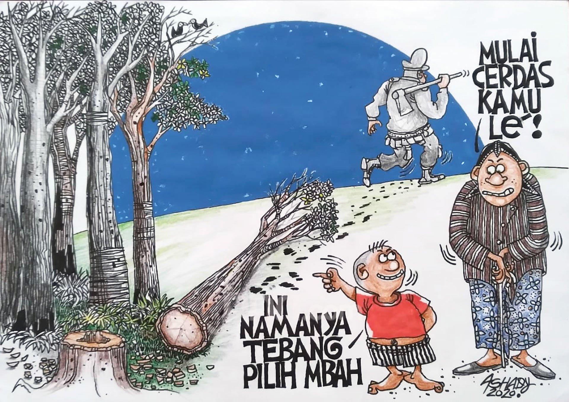 Tebang Pilih. Karikatur oleh Ashady - JPNN.com