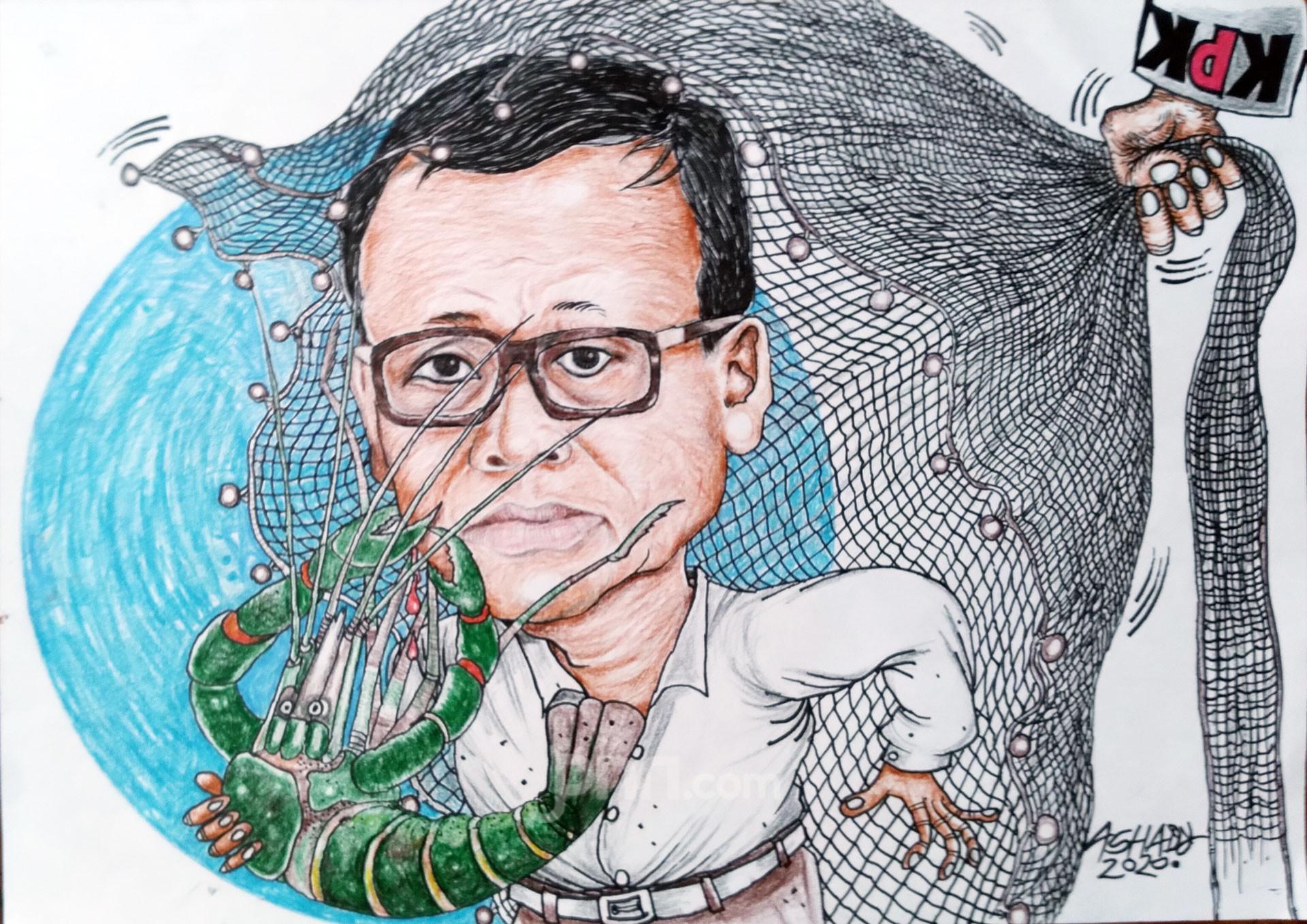 Operasi Tangkap Menteri. Karikatur oleh Ashady - JPNN.com