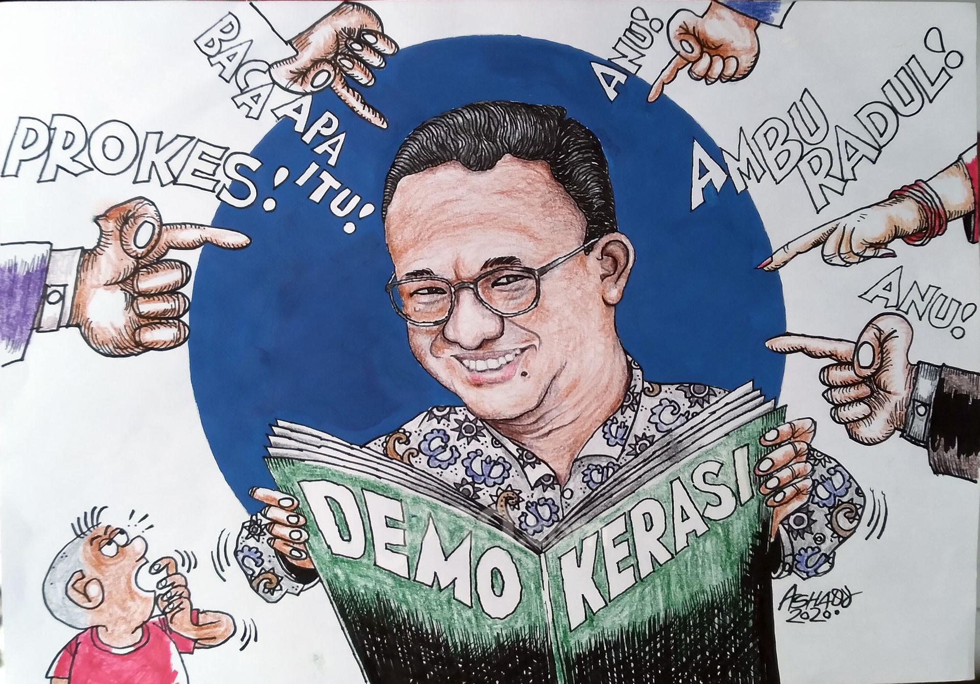 Demokerasi. Karikatur oleh Ashady - JPNN.com