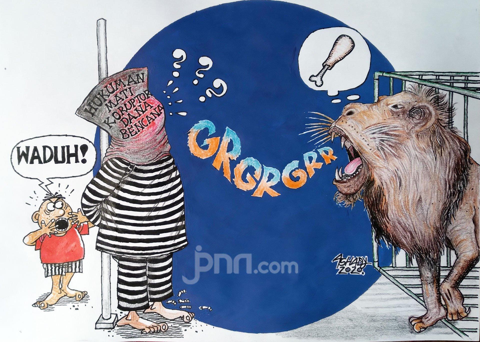 Hukuman Mati Koruptor. Karikatur oleh Ashady - JPNN.com