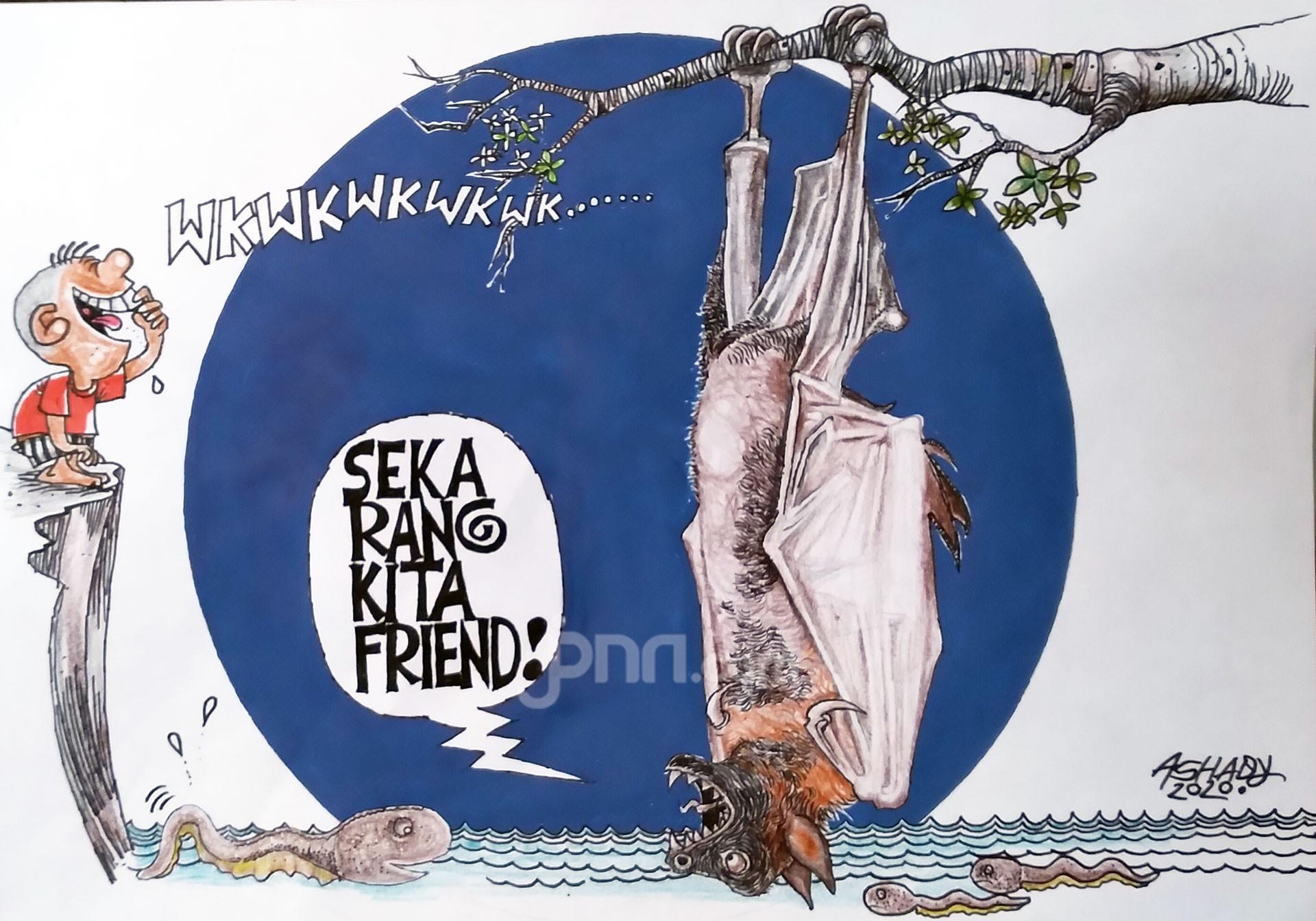 Sekarang Kompak. Karikatur oleh Ashady - JPNN.com