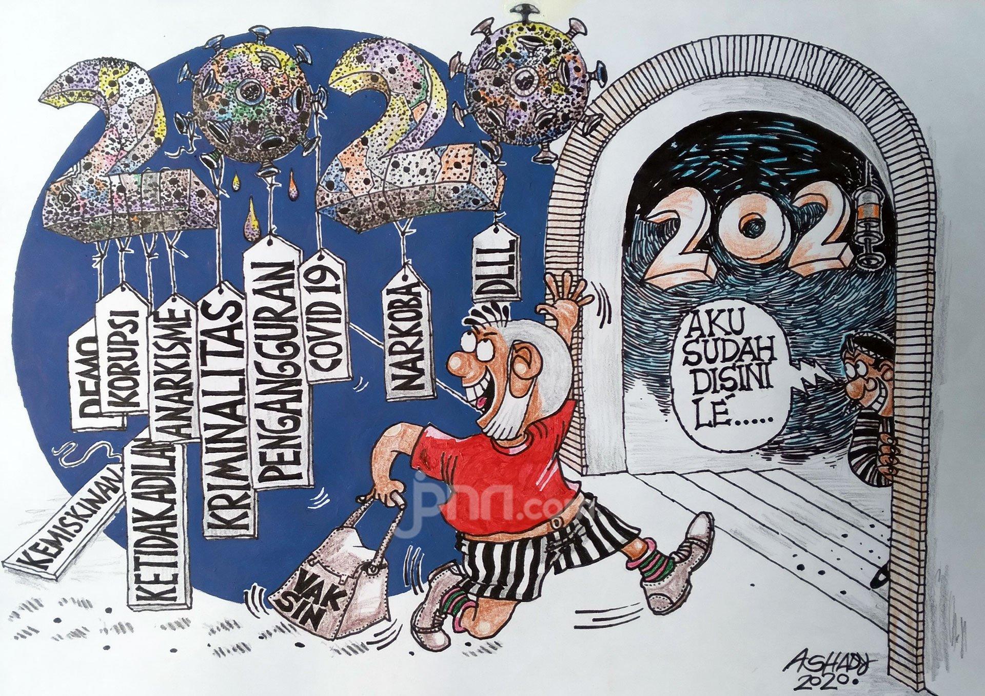 Selamat Tinggal 2020. Karikatur oleh Ashady - JPNN.com