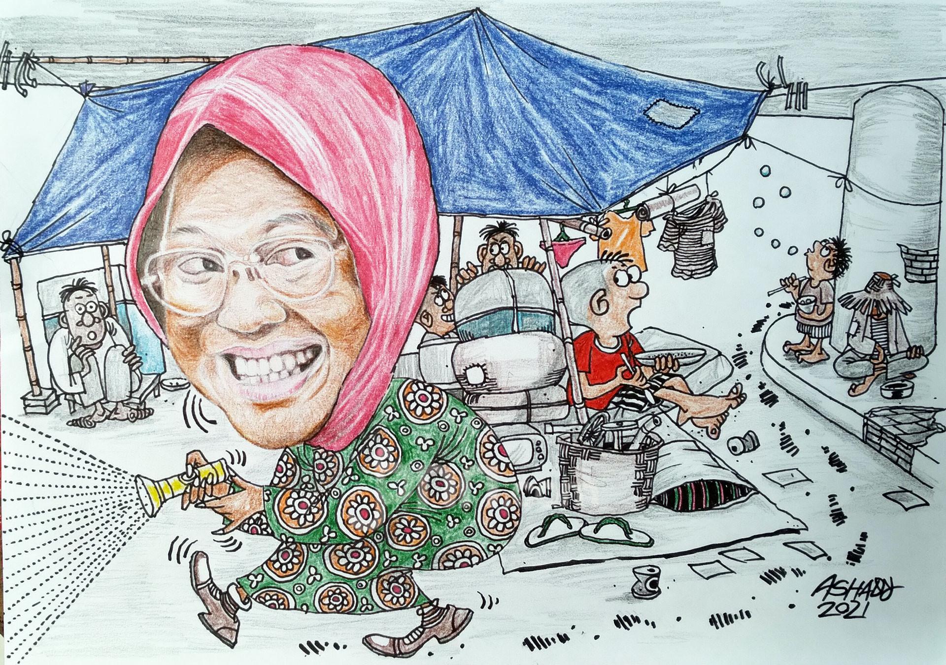 Mensos Blusukan. Karikatur oleh Ashady - JPNN.com