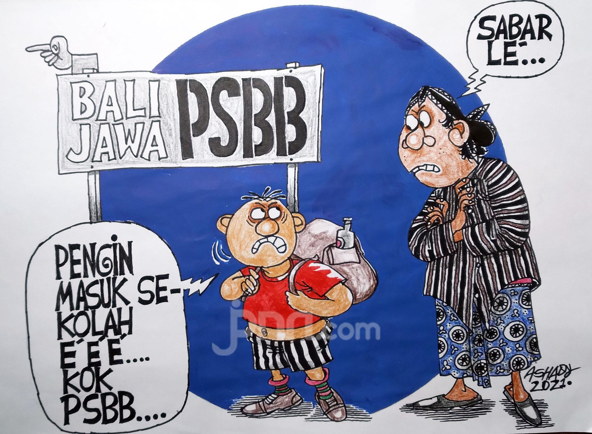 PSBB Lagi. Karikatur oleh Ashady - JPNN.com