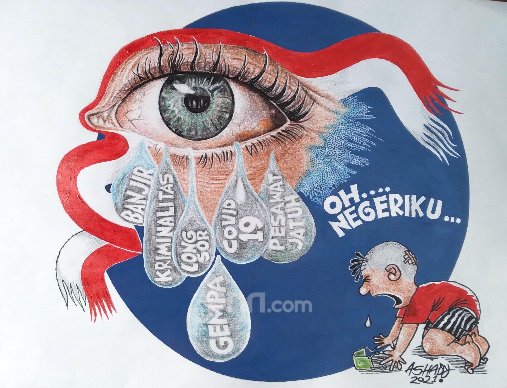 Oh Negeriku. Karikatur oleh Ashady - JPNN.com