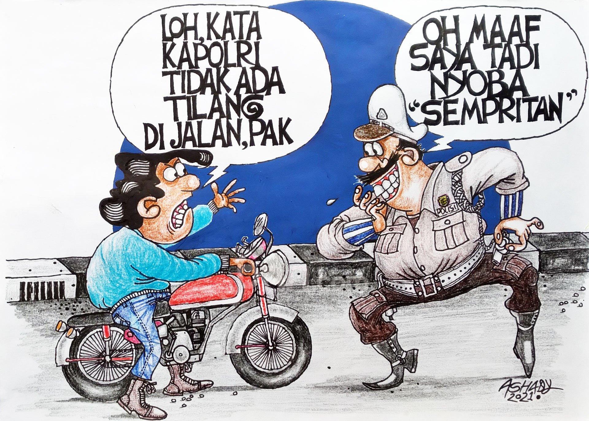 Jajal Sempritan. Karikatur oleh Ashady - JPNN.com