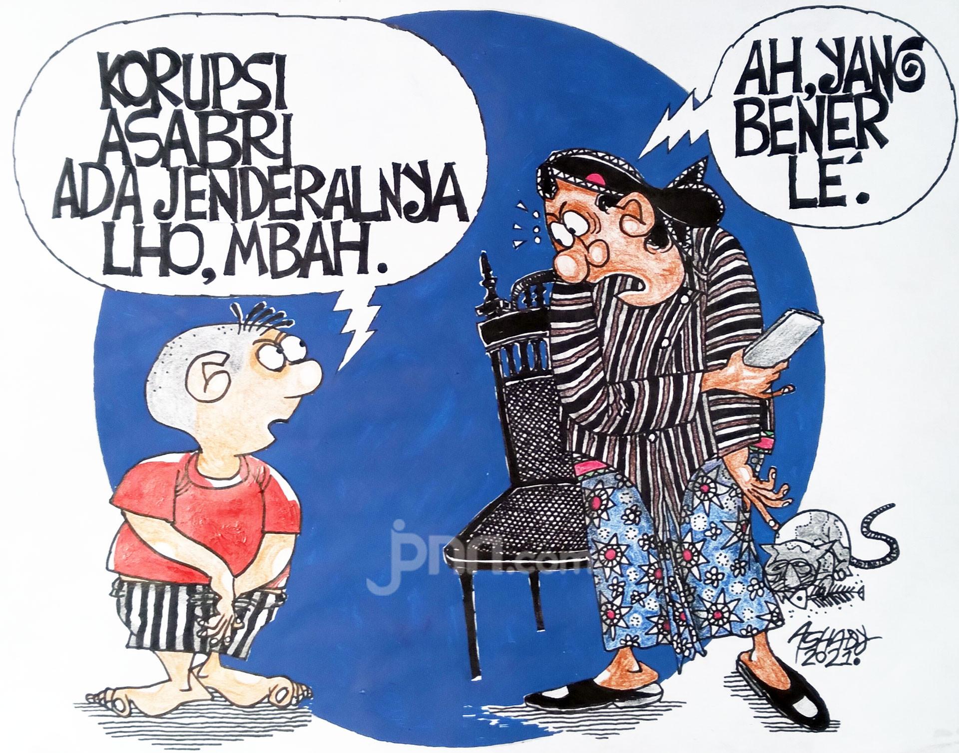 Korupsi di ASABRI. Karikatur oleh Ashady - JPNN.com