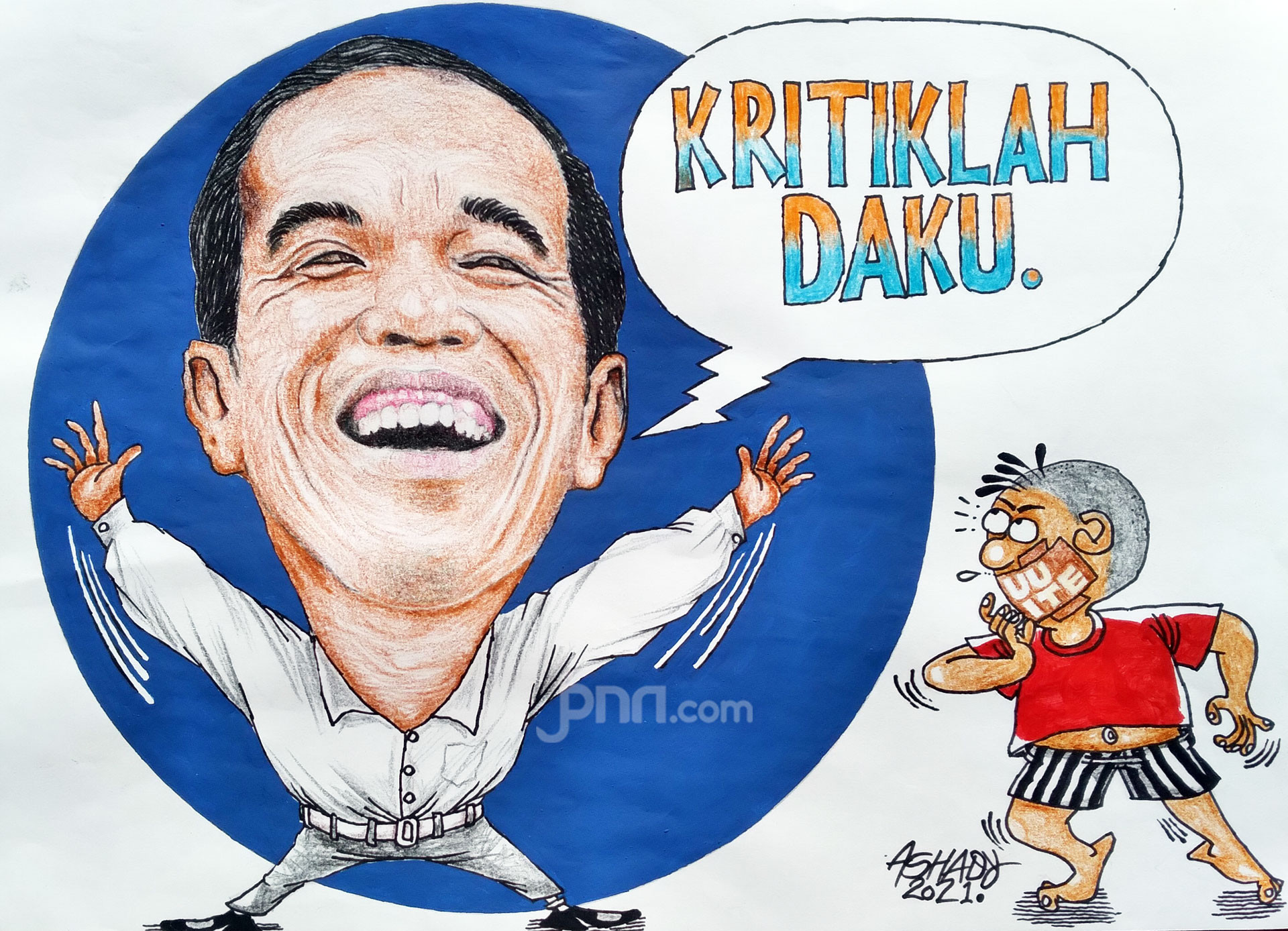 Kritiklah Daku. Karikatur oleh Ashady - JPNN.com
