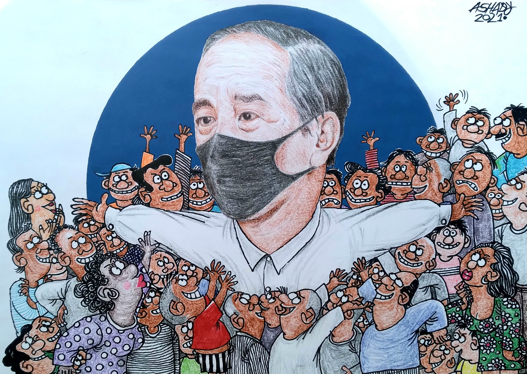 Ngebet Lihat Jokowi. Karikatur oleh Ashady - JPNN.com