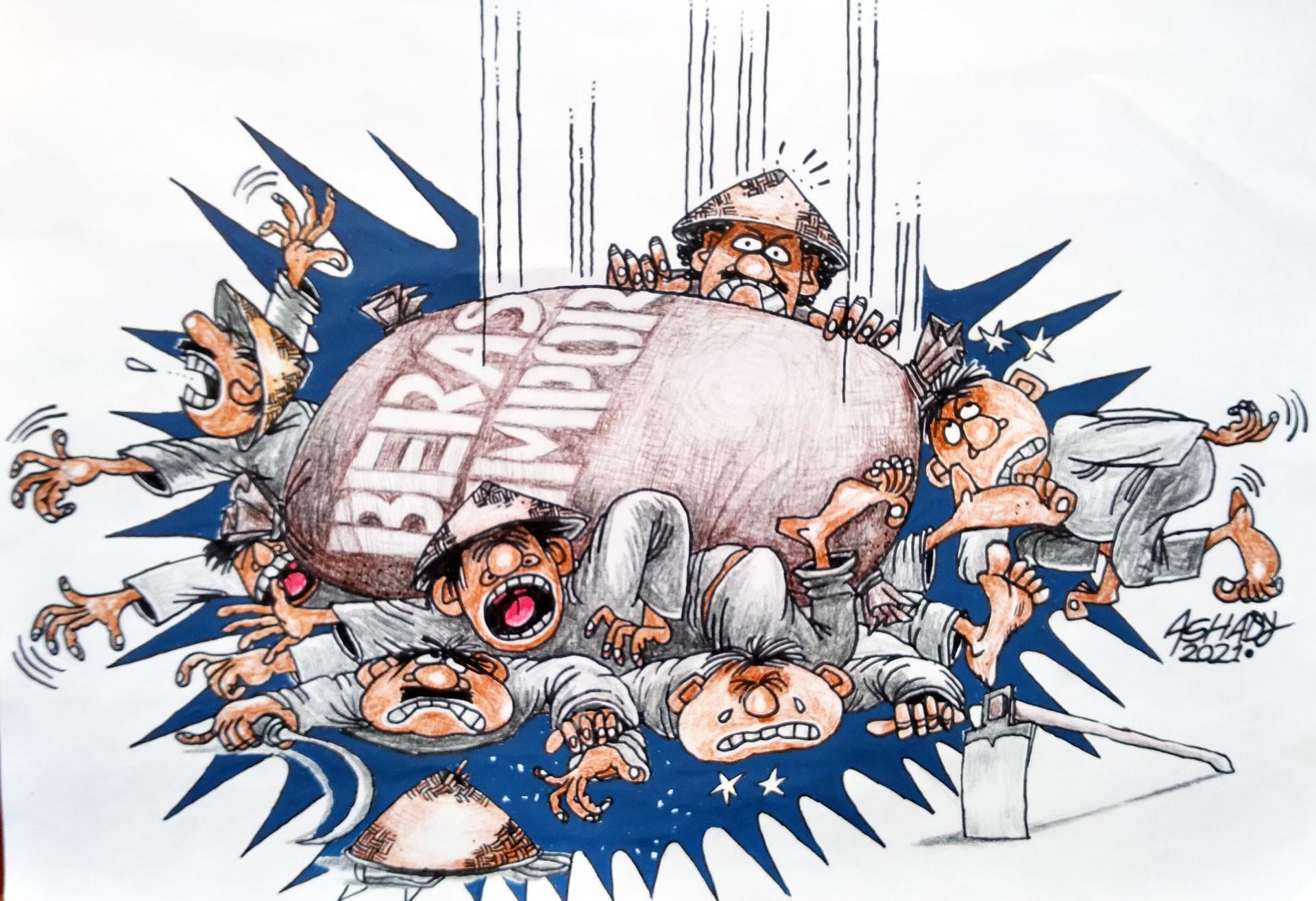 Petani Menjerit. Karikatur oleh Ashady - JPNN.com