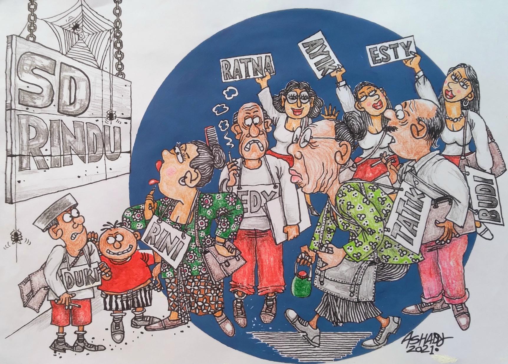 Sekolah Tatap Muka. Karikatur oleh Ashady - JPNN.com