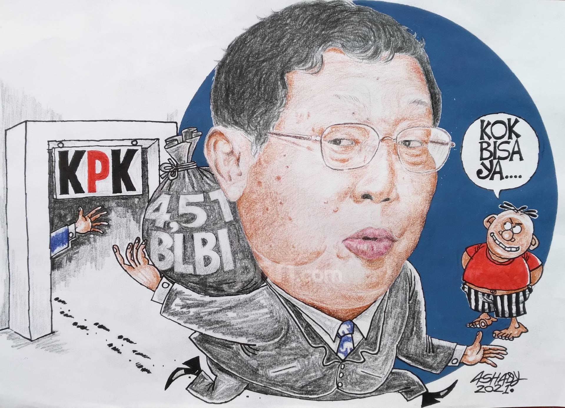 Kok Bisa Lolos. Karikatur oleh Ashady - JPNN.com