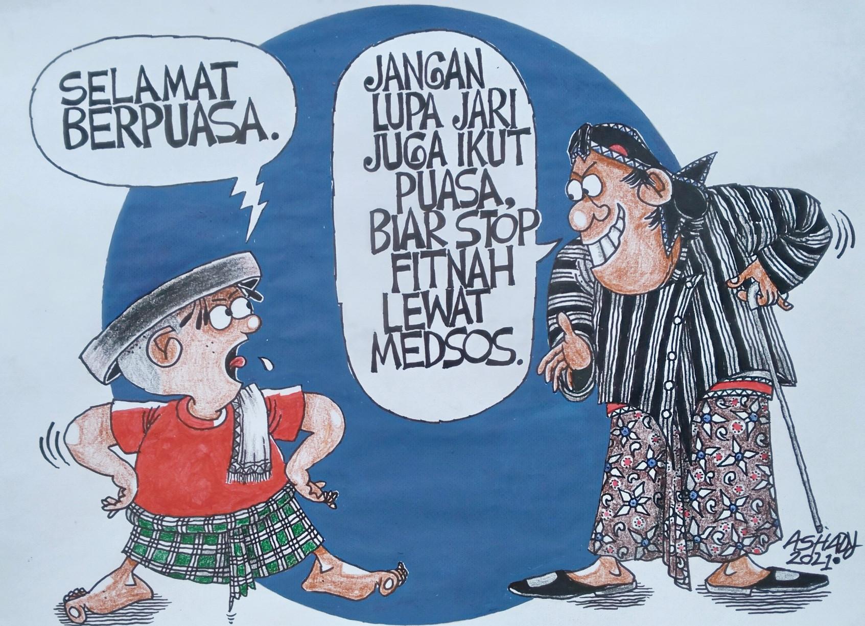 Jari Juga Ikut Puasa Karikatur oleh Ashady - JPNN.com