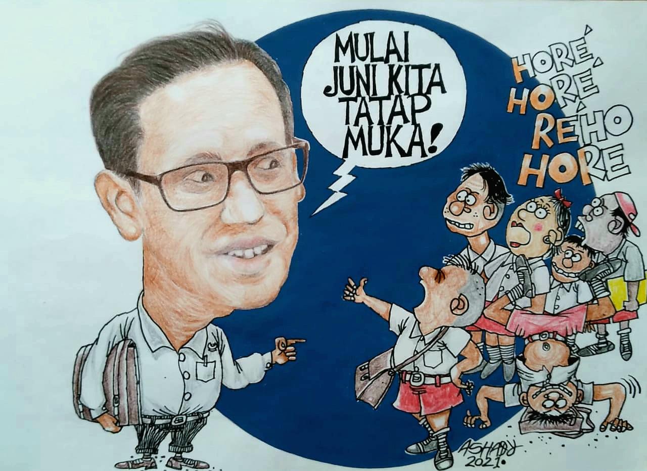Kalian Harus Semangat. Karikatur oleh Ashady - JPNN.com