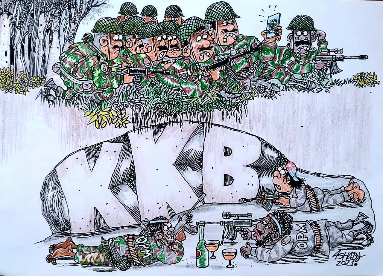 Menumpas KKB. Karikatur oleh Ashady - JPNN.com