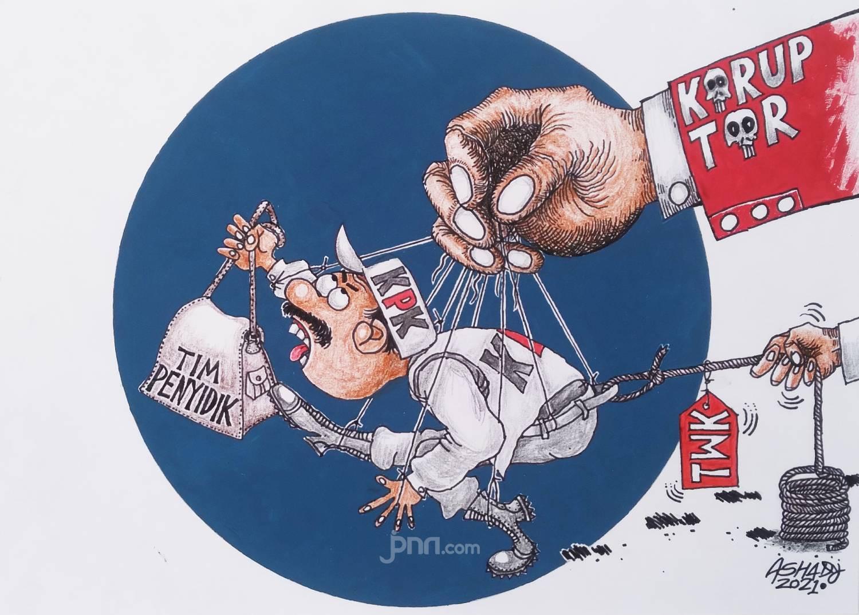 Tidak Lolos TWK. Karikatur oleh Ashady - JPNN.com