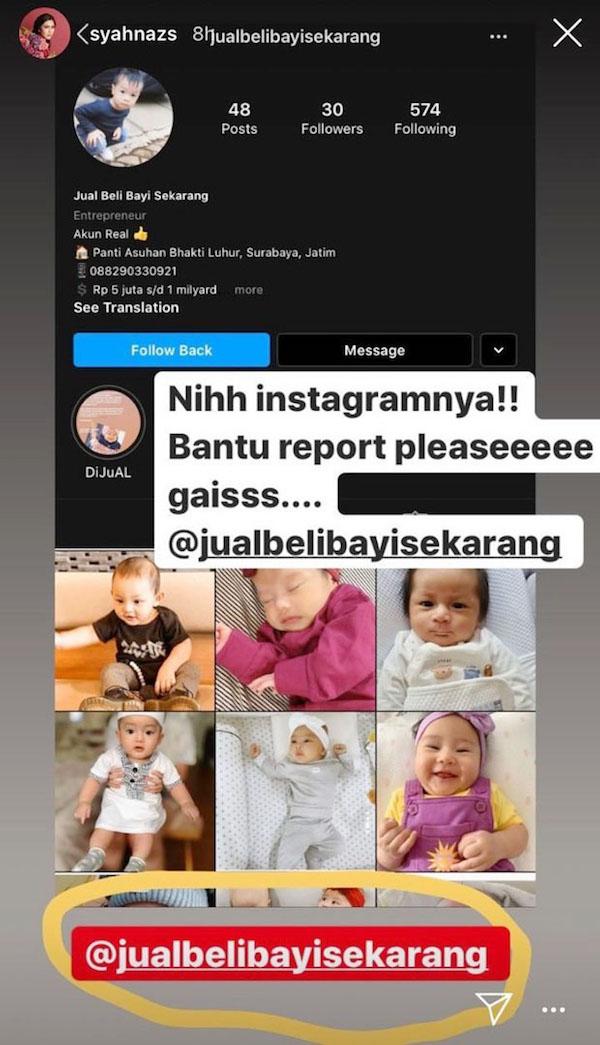 Syahnaz Geram Foto Anaknya Dicatut Akun Instagram Jual Beli Anak