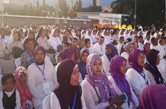 Ini Toleransi, Pastor dan Para Ibu Muslimah Nobar Pesparani