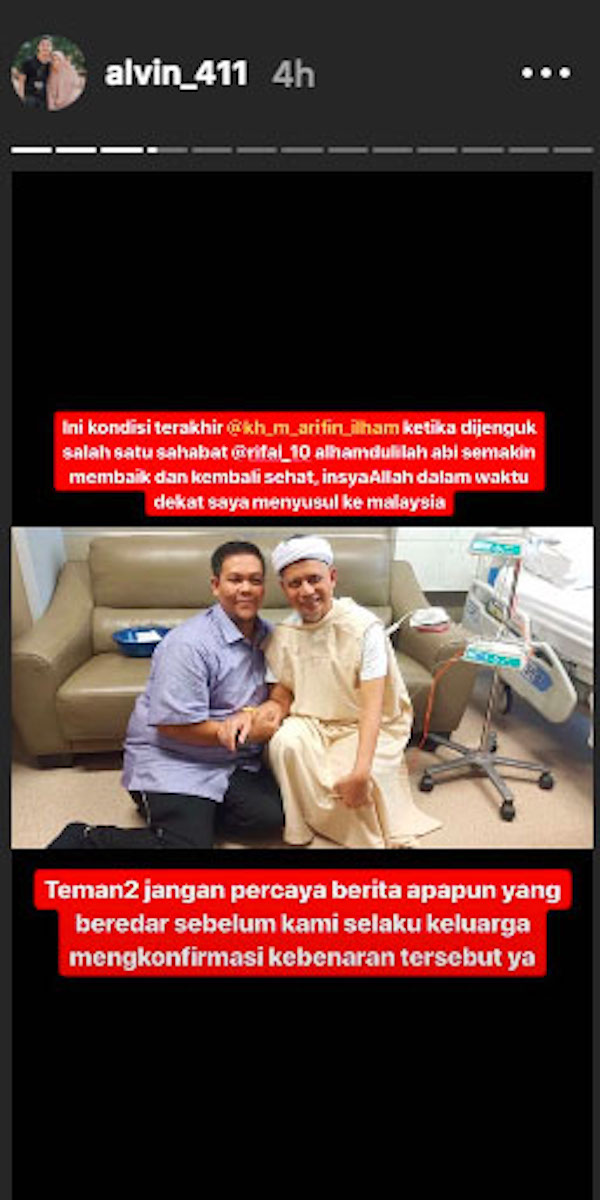 Kabar Ustaz Arifin Ilham Meninggal Cuma Hoaks, Nih Buktinya