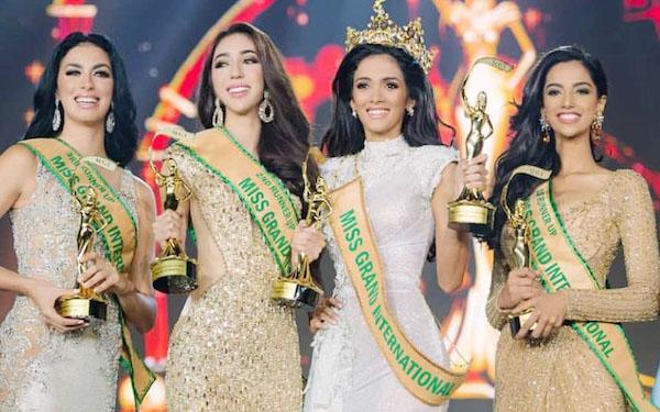 Nadia Purwoko Juara Tiga Miss Grand International 2018