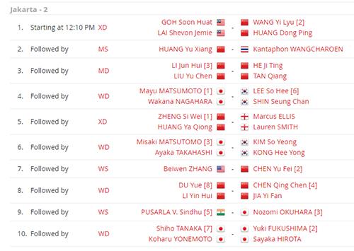 Jadwal Lengkap Perempat Final Blibli Indonesia Open 2019 Hari Ini, Mulai Jam 12
