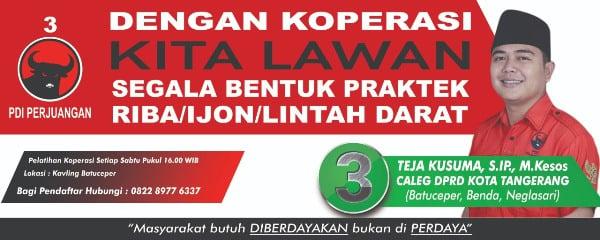 Teja Kusuma, Caleg DPRD Kota Tangerang Ingin Perkuat Koperasi Lawan Rentenir