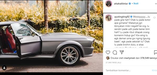 Ayu Ting Ting Mengamuk di Instagram Atta Halilintar, Kalimatnya Pedas
