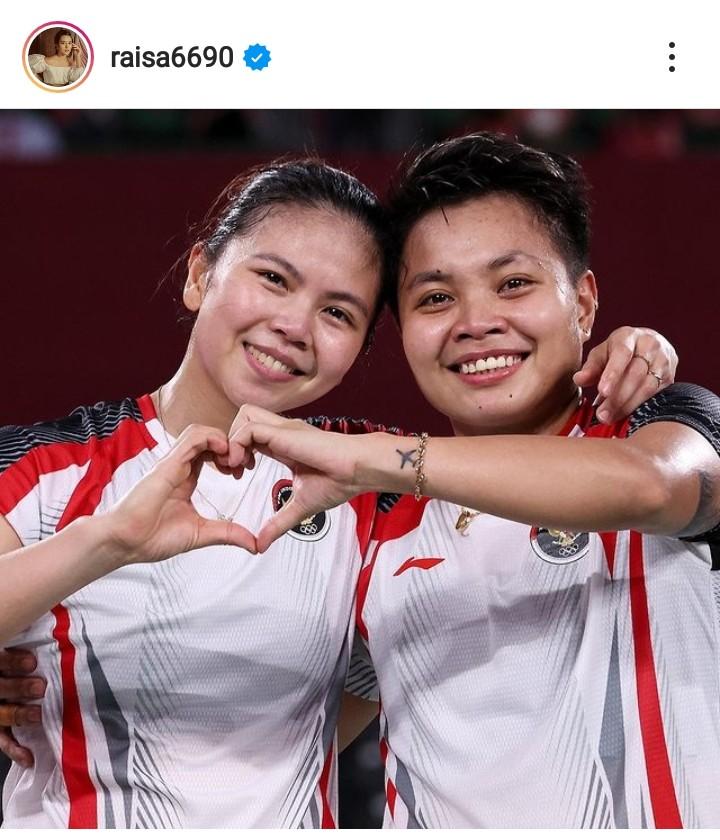 Greysia Polii/Apriyani Raih Medali Emas Olimpiade, Raisa: Dadaku Sesak Saking Bangganya