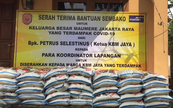 KBM Jaya Salurkan Bantuan Bank Mandiri untuk Warga Terdampak Covid-19