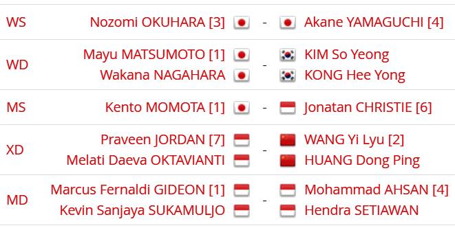 Jadwal Lengkap Final Japan Open 2019, Minions vs Daddies Penutup