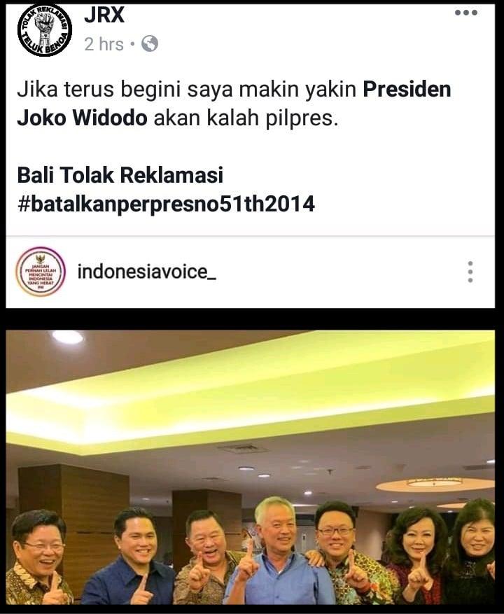 Foto Ini Bikin Jerinx Yakin Banget Jokowi Bakal Kalah
