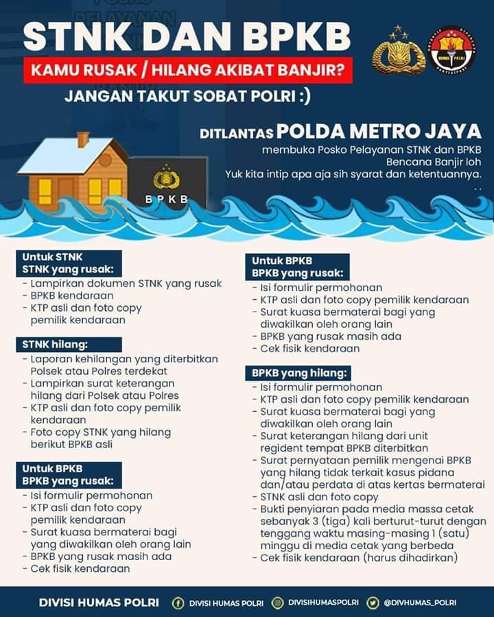Mengurus Surat Kendaraan Rusak Akibat Banjir, Mudah Kok