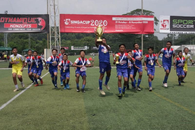 OKKY Youth Soccer Team Berhasil Pertahankan Gelar Juara di Singa Cup 2019