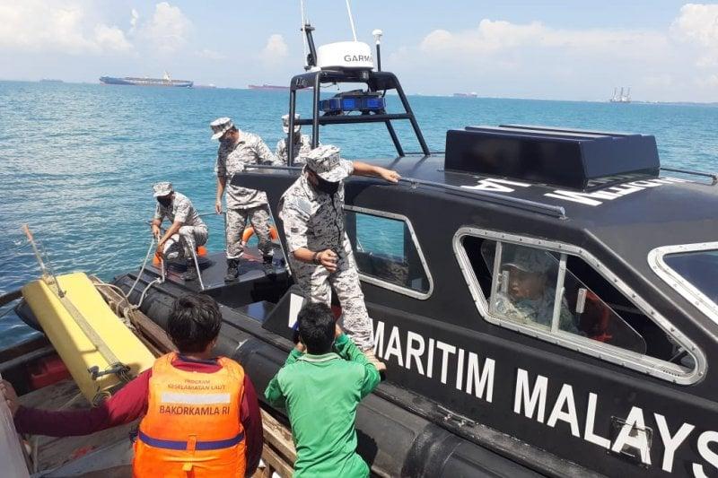 Bakamla Jemput Abdul Rahman dan Riandi yang Masuk Perairan Malaysia