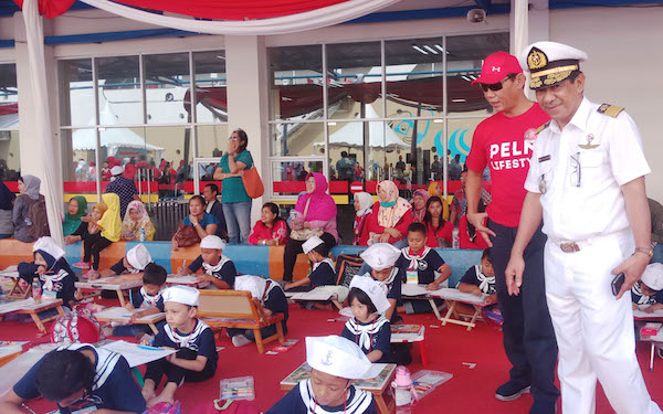 Rayakan Hut Ri 560 Anak Ikut Lomba Menggambar Kapal Pelni Jpnn Com