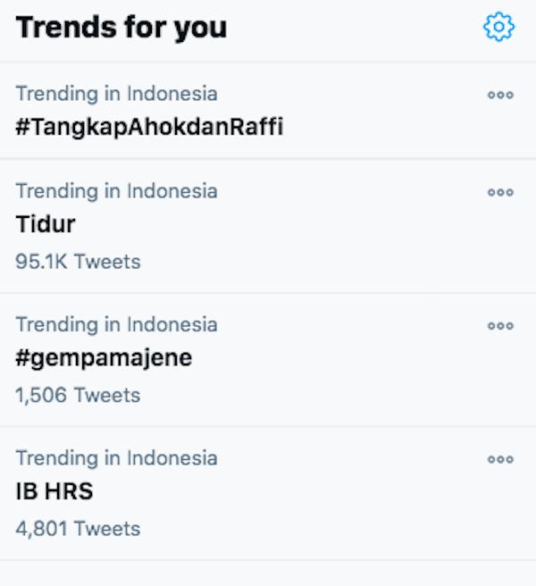 Buntut Raffi Ahmad Keluyuran, Tagar #TangkapAhokdanRaffi Trending di Twitter
