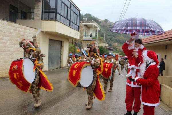 Drum Band Satgas Indobatt Memeriahkan Natal di Lebanon