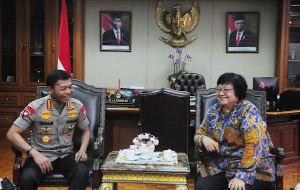 Siti Nurbaya: KLHK dan Polri Bersinergi Dalam Menangani Karhutla