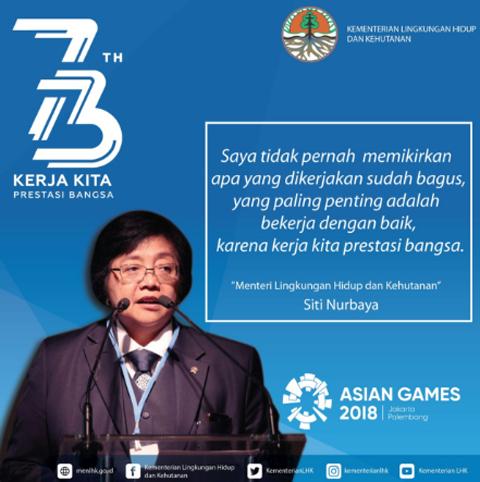 Menteri Siti: Karena Kerja Kita Prestasi Bangsa