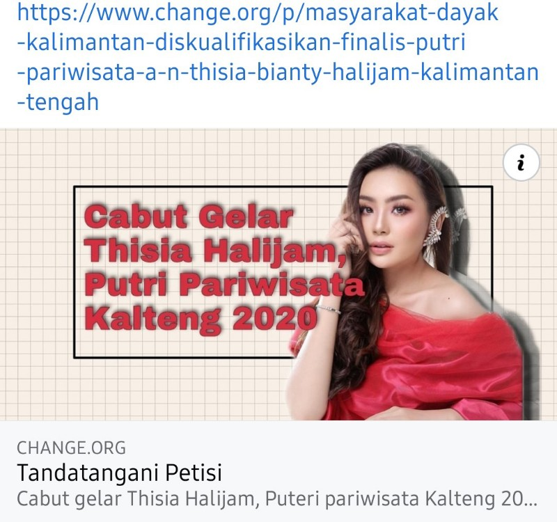 Warganet Geram, Desak Gelar Putri Pariwisata Kalteng untuk Thisia Dicabut