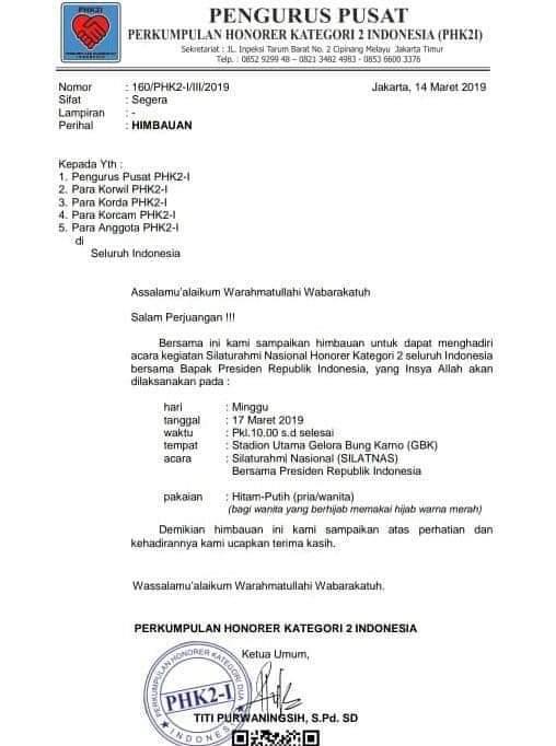 Terkait Silatnas Honorer K2, Titi: Pak Jokowi itu Tidak Terduga Orangnya