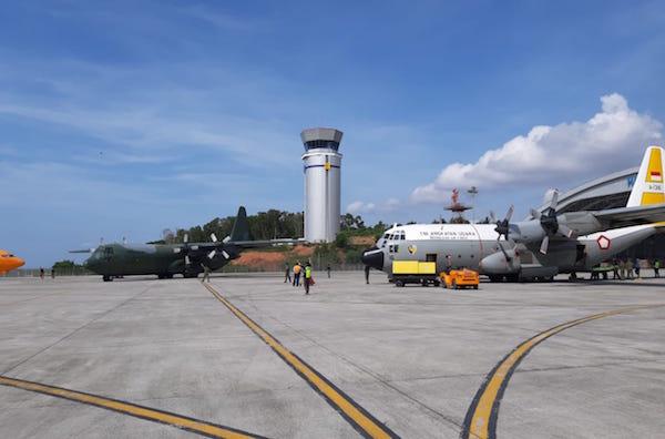 Pesawat TNI AU dan Korsel Angkut Bantuan Kemanusiaan ke Palu