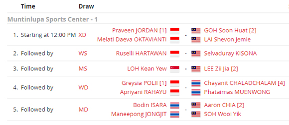 Badminton SEA Games 2019: 3 Wakil Indonesia Tembus Final