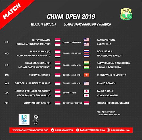 Jadwal Wakil Indonesia di Babak Pertama China Open, Minions Main Sore