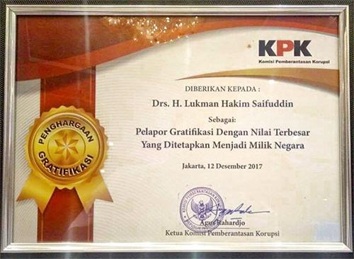 Kemenag: Lukman Hakim Pejabat yang Mengembalikan Gratifikasi Terbesar setelah Jokowi dan JK