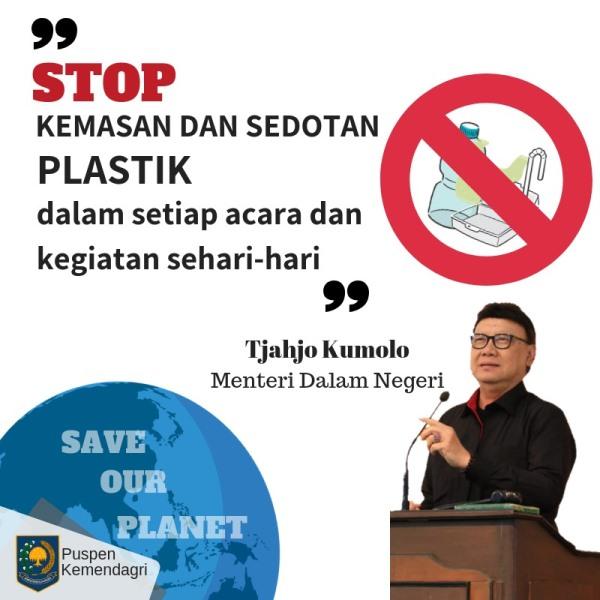 Pak Tjahjo Kumolo Larang Anak Buah Pakai Sedotan Plastik